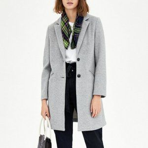 Zara TRF Outerwear Super Soft Coat in Light Grey
